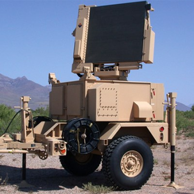 Sentinel is a mobile, tactical air defense and weapon coordination X-band radar that detects helicopters, high-speed attack aircraft, cruise missiles and UAVs. Photo: ThalesRaytheonSystems