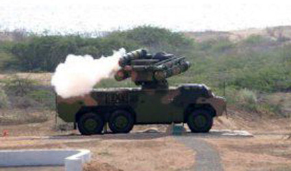 Pakistani FM-90 SHORAD system tested.
