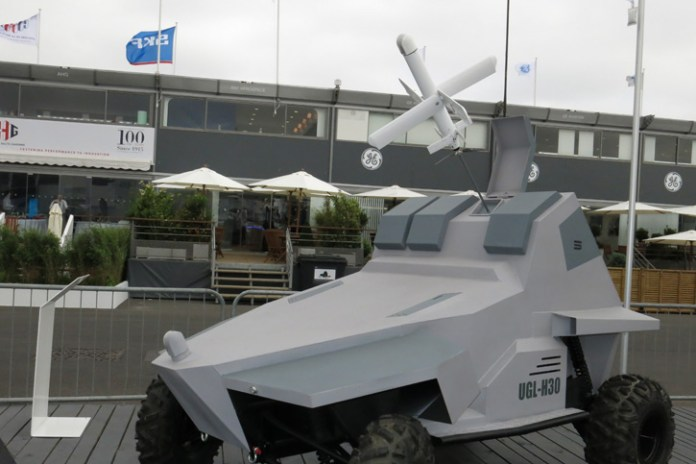 UVision also unveiled a vehicular application of the HERO, mounted on a small off-road unmanned ground vehicle. Photo: Tamir Eshel, defense-Update