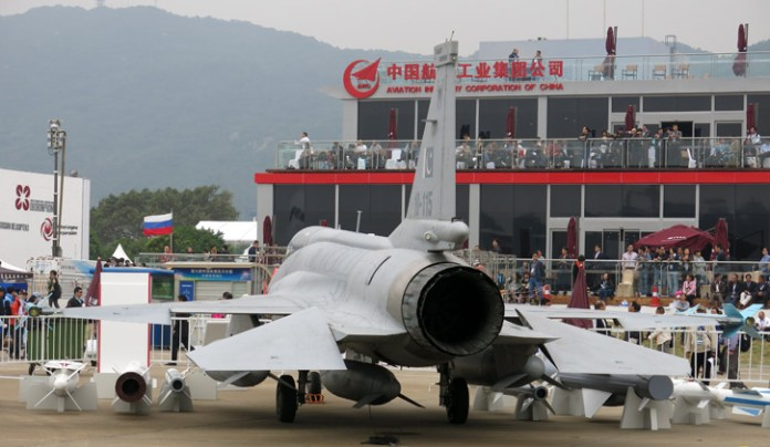 Another view of the JF-17 in China. November 2014. Photo: Tamir Eshel, Defense-Update