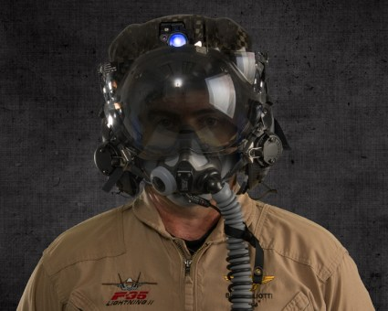 The F-35's Helmet Mounted Display Systems jointly developed by Elbit Systems and Rockwell Collins provide pilots with unprecedented situational awareness. All the information pilots need to complete their missions – airspeed, heading, altitude, targeting information and warnings – is projected on the helmet's visor, rather than on a traditional Heads-up Display. Photo: Lockheed Martin