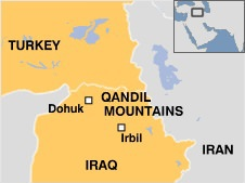 PKK targets attacked by the Turkish Air Force in Northern Iraq 24 July 2015. Source: Daily Sabah