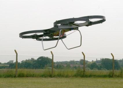 The second prototype of Malloy Aeronautics' Hoverbike UAV shown on a test flight. Photo: Malloy Aeronautics