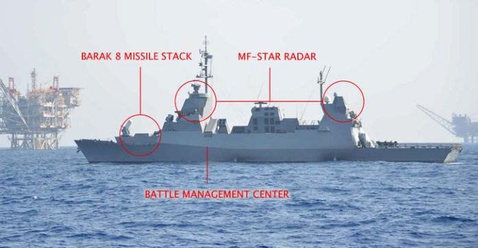 INS LAHAV is the first of three SAAR 5 missile corvettes to upgrade from Barak I to Barak 8. Photo: IDF Spokesman