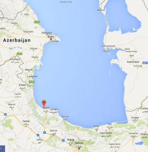 The Russian S-300 missiles were spotted at Iran's Caspian sea port of Bandar Anzali.