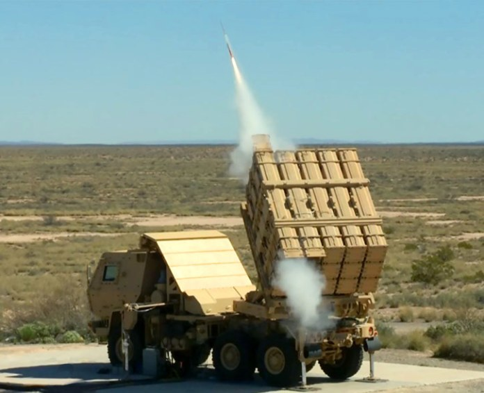 In another recent test Lockheed Martin's Miniature Hit-To-Kill (MHTK) missile was fired from the MML. Photo: US Army