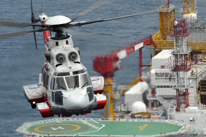 H225 is supporting offshore oil and gas rigs. The helicopter that crashed in April, killing 13 on board, was on such mission. Photo: Airbus Helicopters