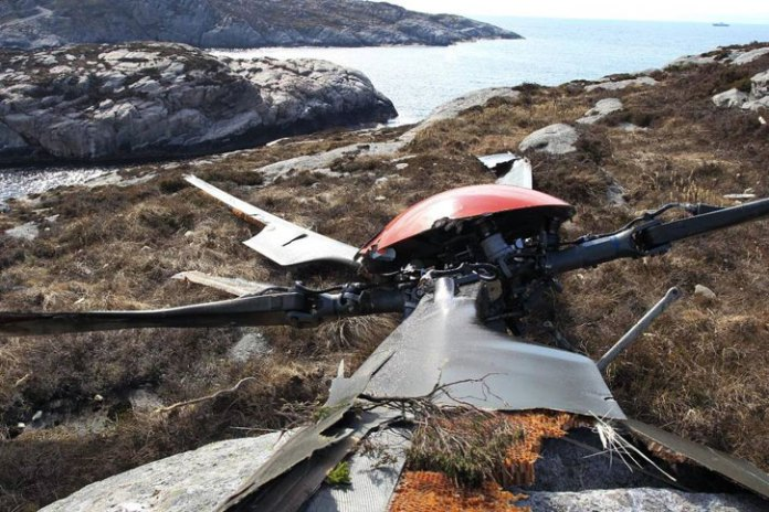 The rotor of the H225 that crashed near separated from the helicopter at an altitude of 9000 ft.