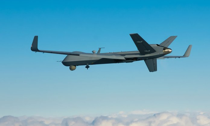 Extended range version of the Reaper - a version of the MQ-9 Predator B equipped with longer wings and more fuel to carry out extended missions. Photo: GA-ASI