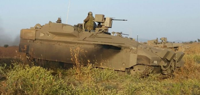 US-built kits represent more than 50 percent of the cost of the vehicles. The kits are assembled in Israel into several variants, including APC, combat engineering, technical support and command vehicles. All will receive APS to improve combat survivability. Photo: IDF Spokesman.