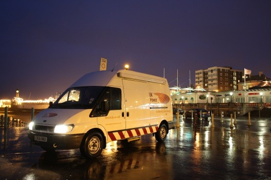 defensive driving uk power networks van on site