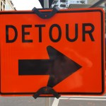Detour Sign (Photo by The DeFeo Groupe)