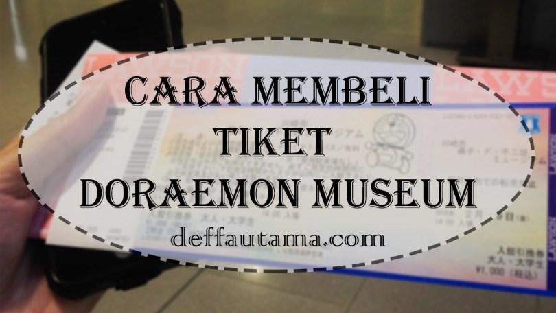 Cara Membeli Tiket Doraemon Museum di Loppi Machine