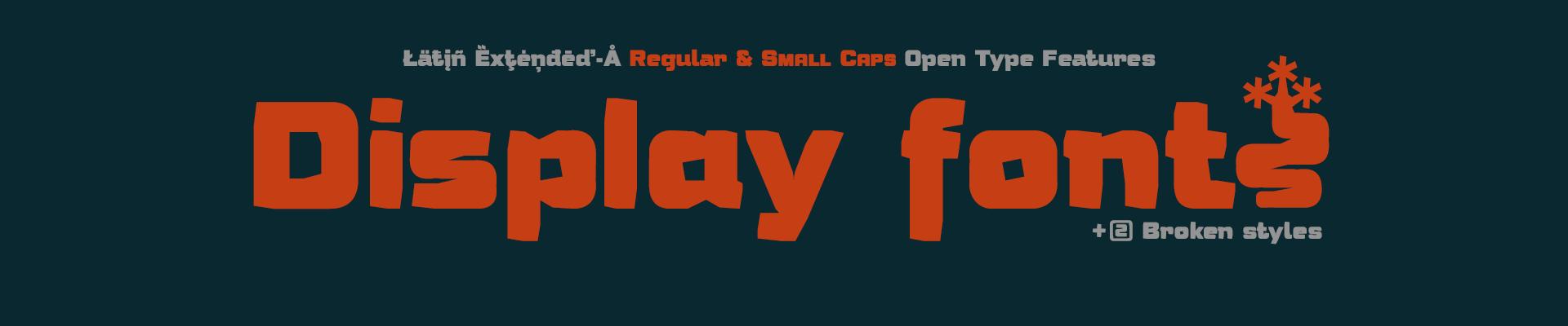 Humato Display Fonts - 04 styles - OpenType Features