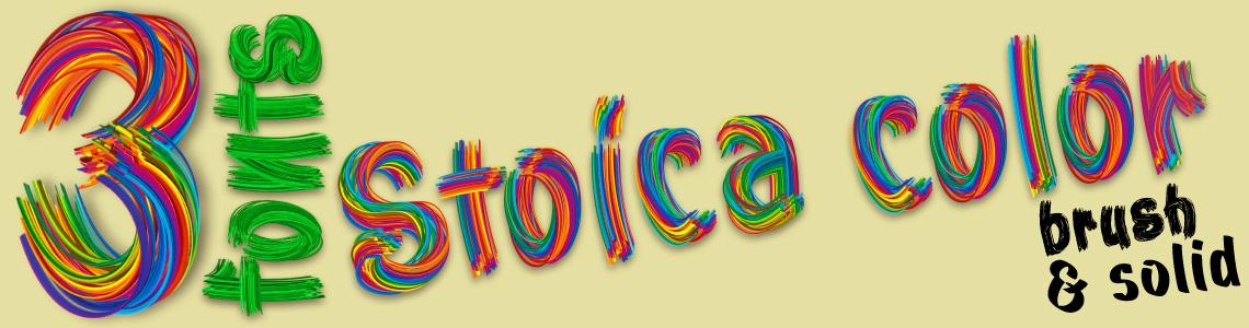 3 fonts Stoica Script Color Font + Brush & Solid