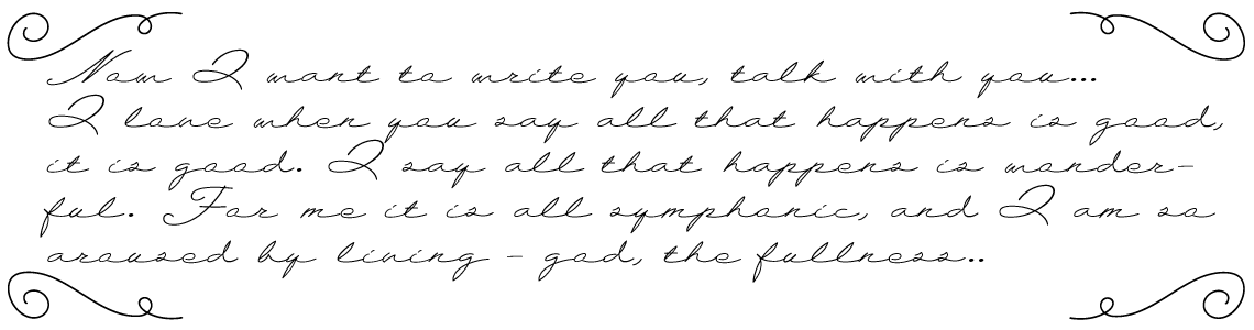 Wolframia Script Typeface - Calligraphic font