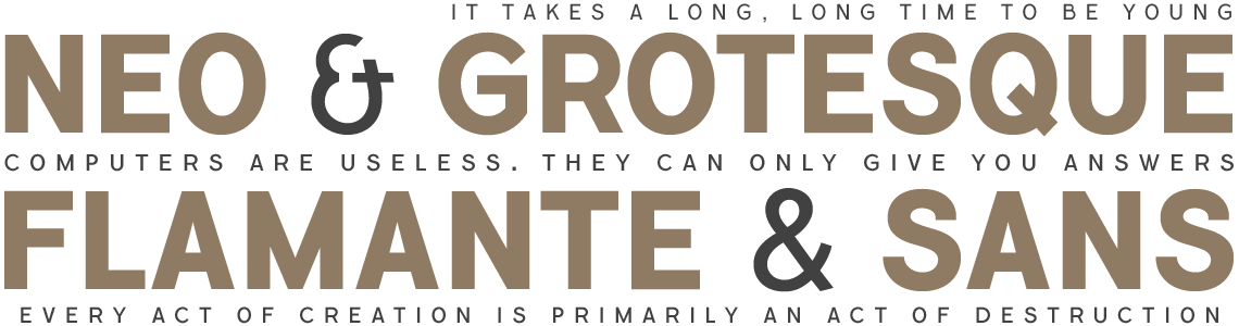 Flamante Sans - Neo Grotesk Fonts
