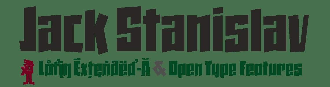 Jack Stanislav - Latin Extended-A - Open Type