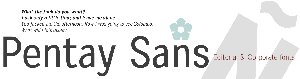 Pentay Sans Serif Typeface Family