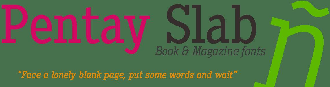 Pentay Slab Serif. Editorial Typeface Family
