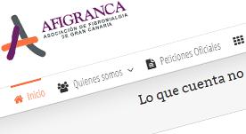 Portal de la asociación Afigranca en Canarias