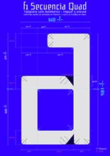Poster tipográfico de la fuente f1 Secuencia Quad