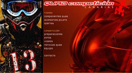 Competiciones de Quads, piezas, parafernalia, videos, etc. todo desarrollado en una página web en Flash