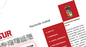 Página web en flash para empresa de construcción en Canarias