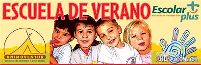 Diseño del cartel de la escuela de verano organizada por escolar plus en Maspalomas Gran Canaria