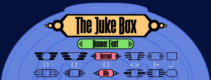 The Juke Box, banner font