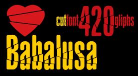 Babalusa cut font