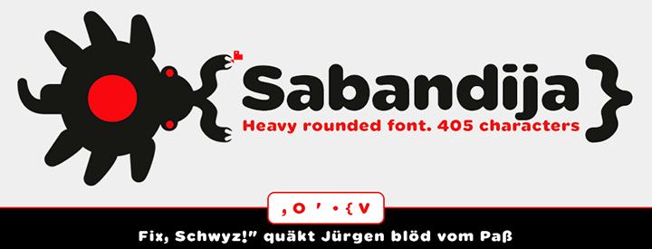 Sabandija, Display & Round font