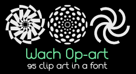 95 vectores Op-art en una symbol font