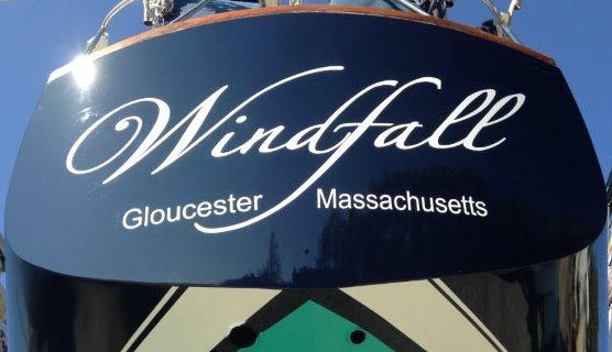 Windfall from astern