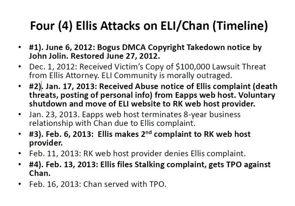 Linda Ellis Attacks ELI