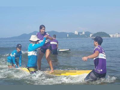 Surfe pessoas com deficiência SP Foto: Andréa Paixão Araújo/Divulgação