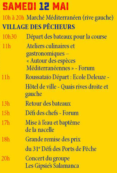 Programme SAMEDI-12mai