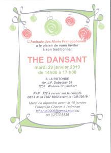 L'Amicale des Aînés francophones vous invite à son traditionnel thé dansant