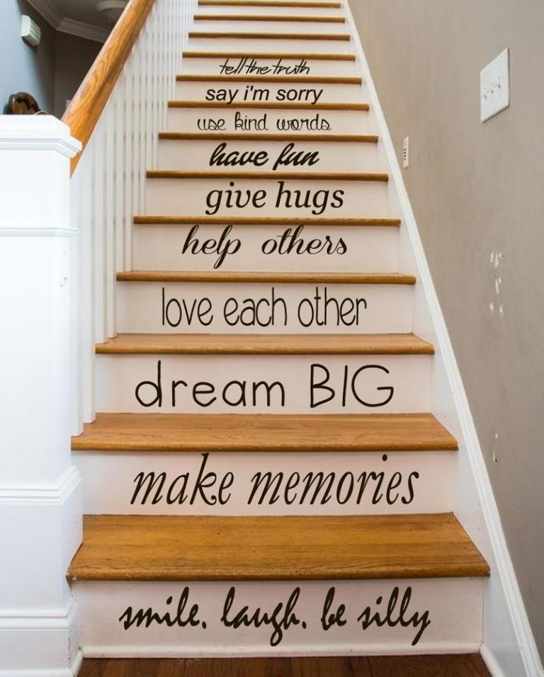 25 Painted Stairs Ideas To Start Your Decorating Project   Stair Wall Colour Design   Wood Wall   Before And After   Room Wall   Hall Colour Combination   Family