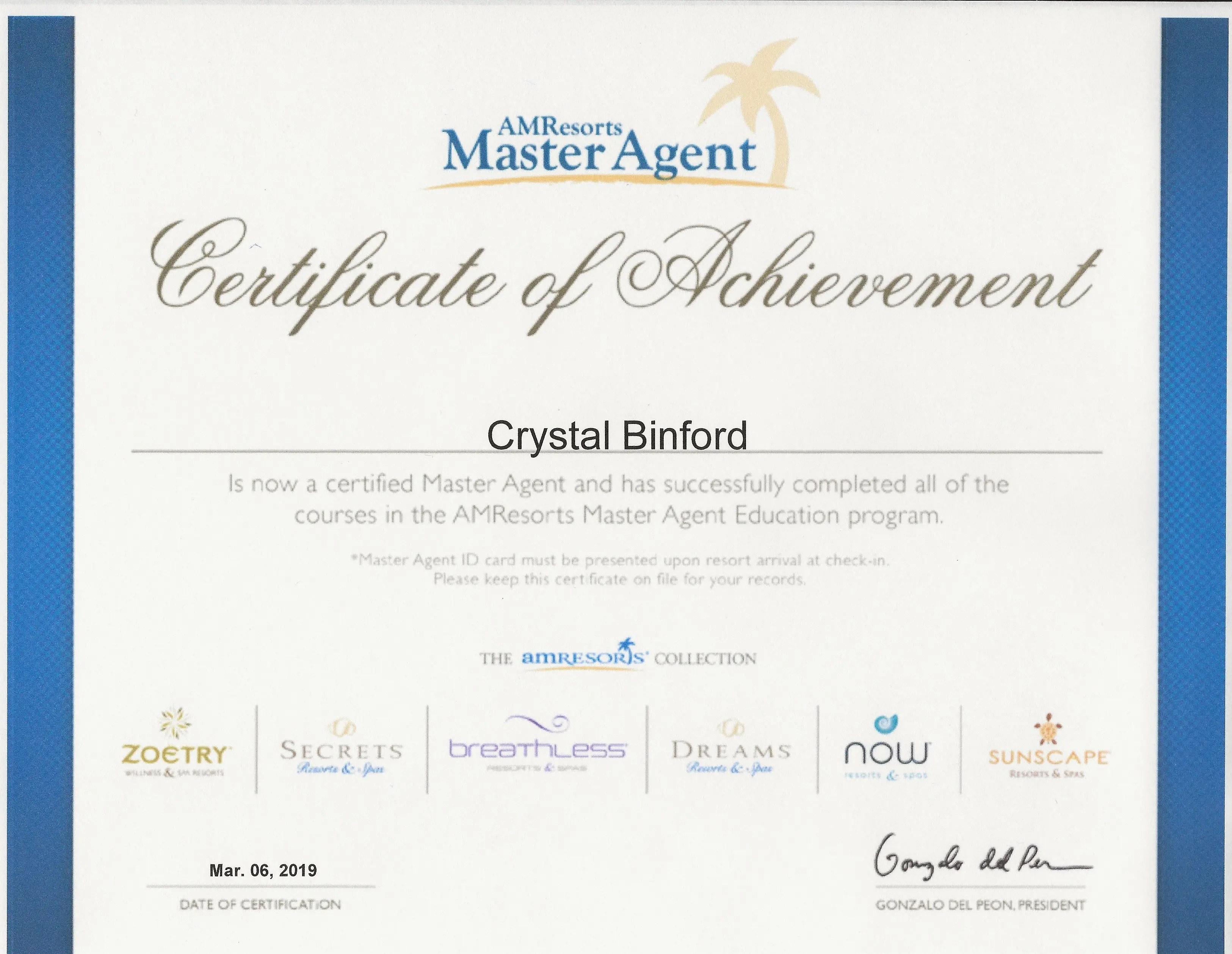 certificates binford crystal february