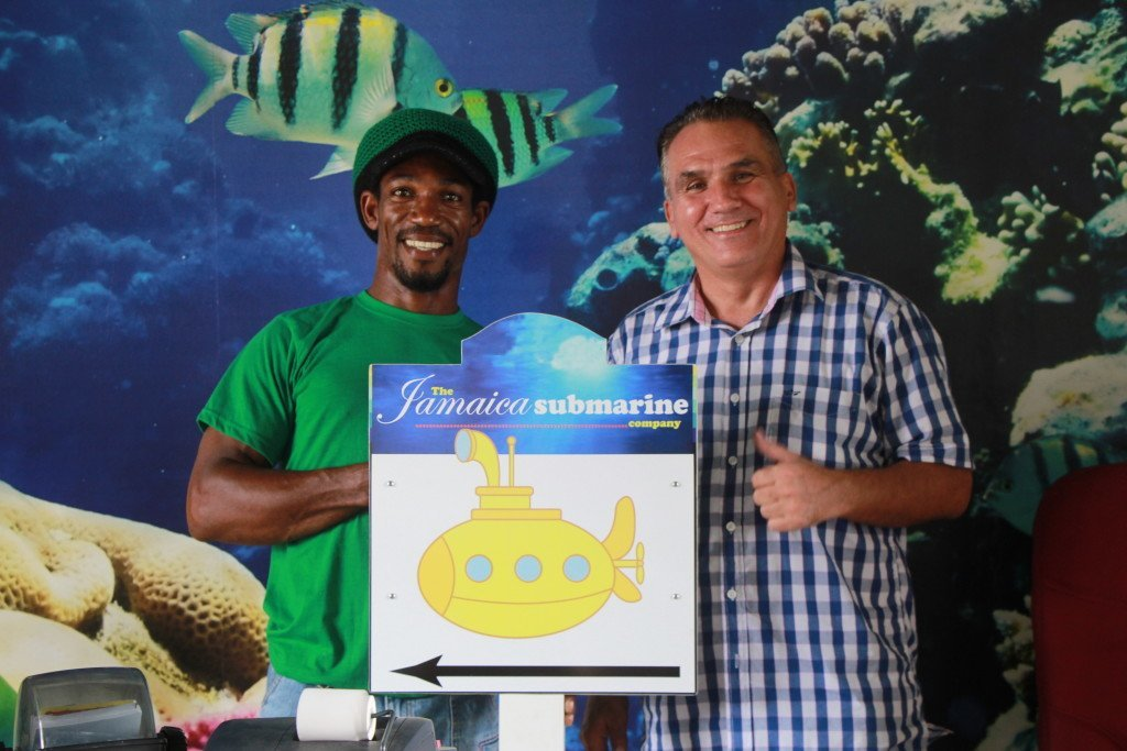 The Operations Manager and the GM of Jamaica Submarine Adventure