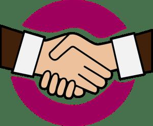 Une poigné de mains entre deux personnes