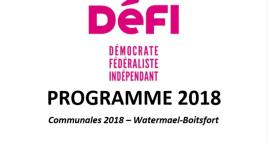 Découvrez les priorités de DéFI pour Watermael-Boitsfort