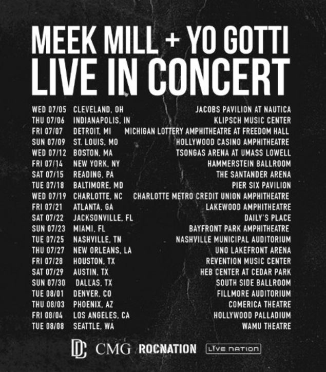 Meek Mill Yo Gotti Against All Odds Tour Dates