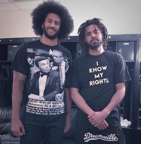 Colin Kaepernick and J. Cole