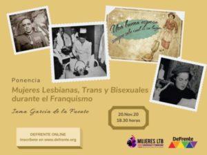 Mujeres lesbianas, trans y bisexuales durante el franquismo (Ponencia)