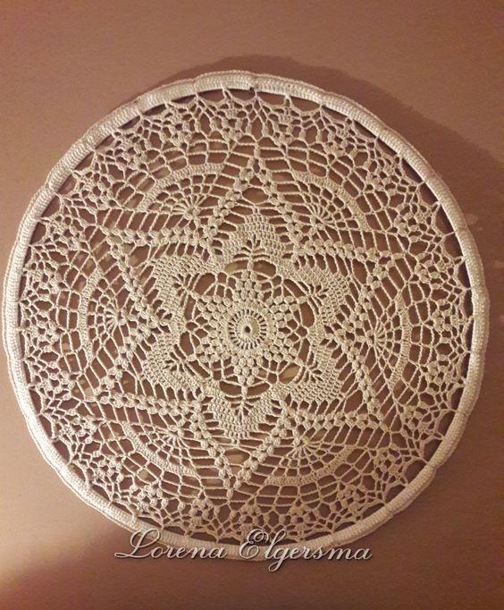 mandala em crochê estrela branca