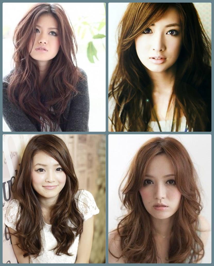 cortes de cabelo para orientais - longo - long asian hairstyle