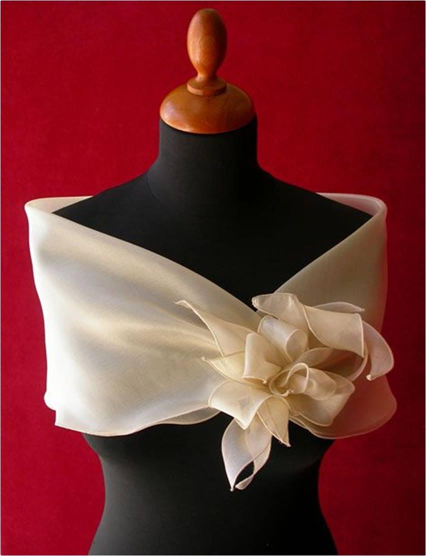 08 estola ou echarpe para festa de casamento - diy - faça você mesmo - costura