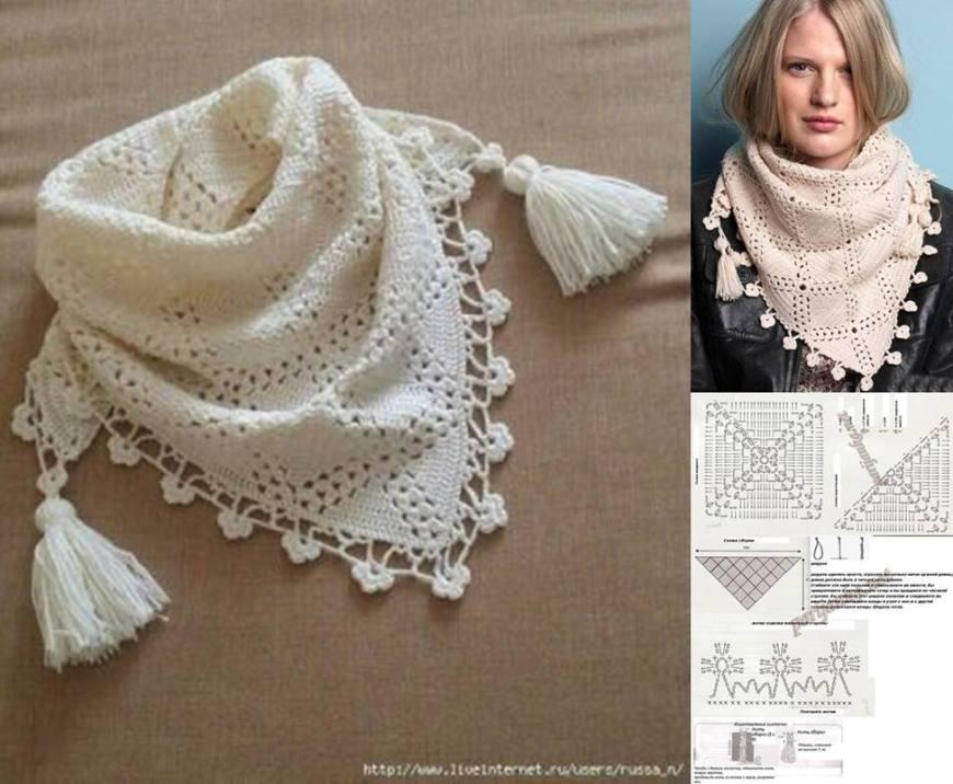 08 diy xale cachecol em croche - tutorial